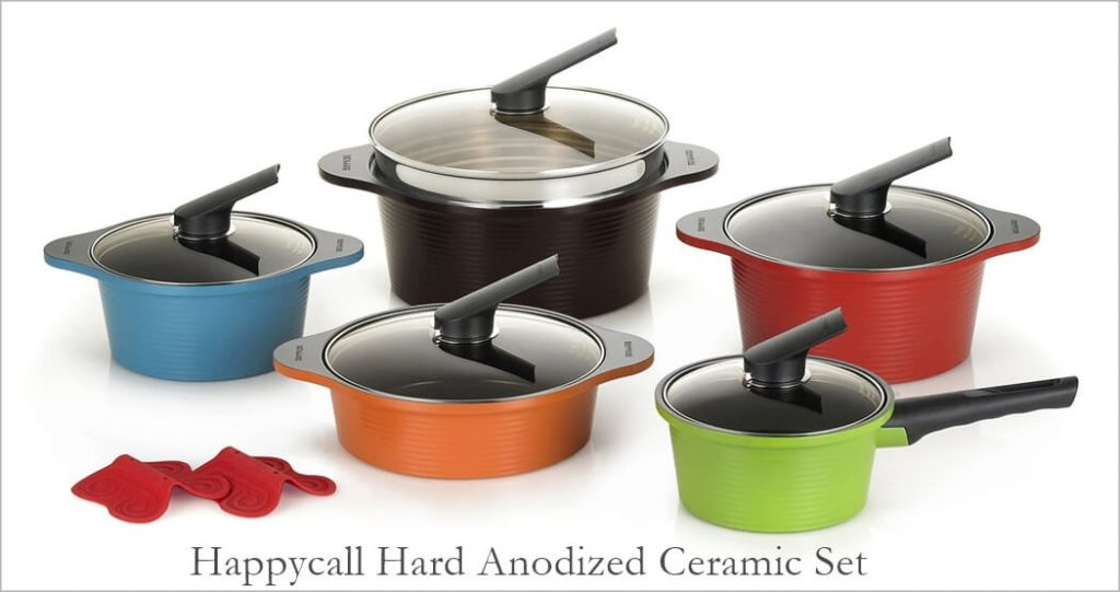 Happycall Multi Colored Cookware Set