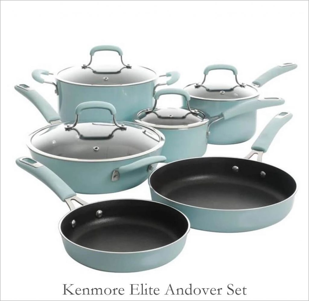 Kenmore Elite Colorful Pots and Pans