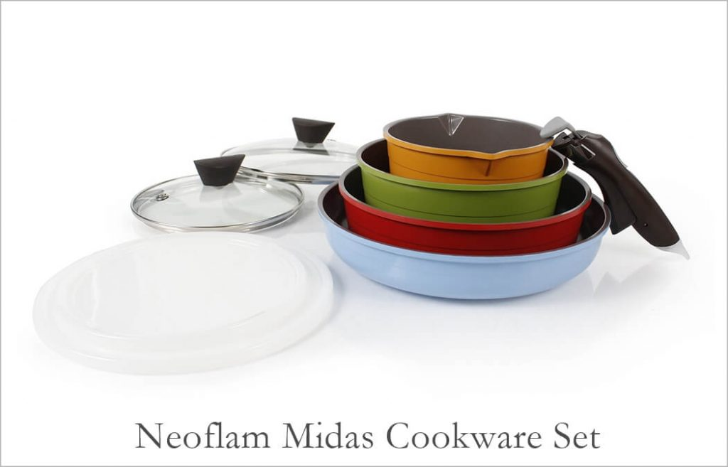 Neoflam Midas Multi Colored Pots and Pans Set
