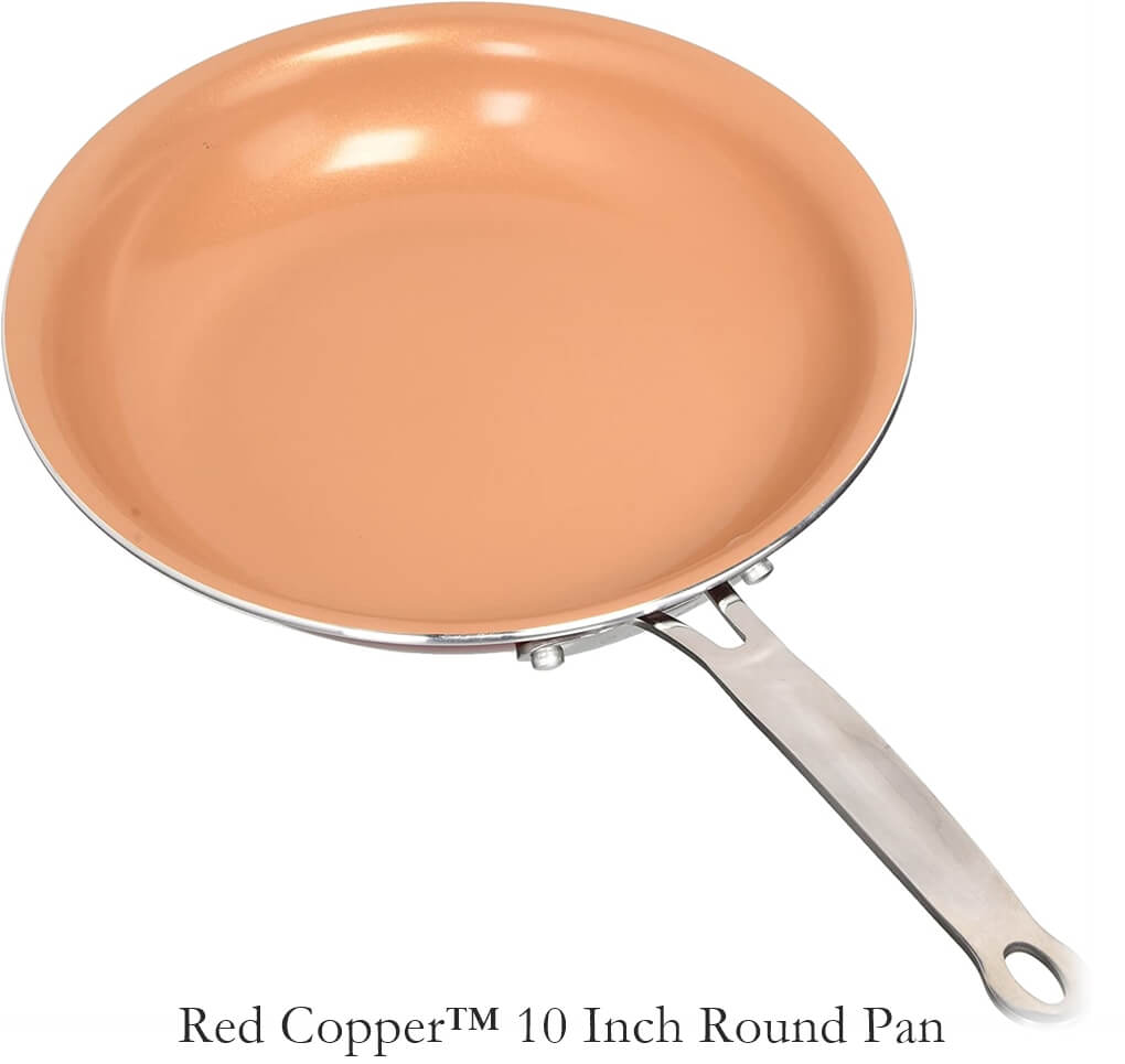 Red Copper 10'' Round Pan