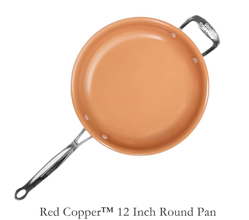 Red Copper 12'' Round Pan